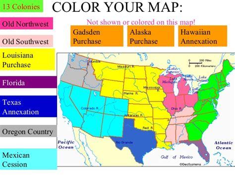 westward expansion map western expansion