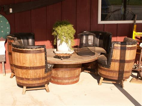 Barrel Table And Chairs by Barrel Table And Chairs By Itsallstock On Deviantart