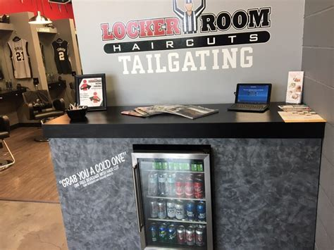 locker room haircuts tailgate come in get a cold beverage yelp