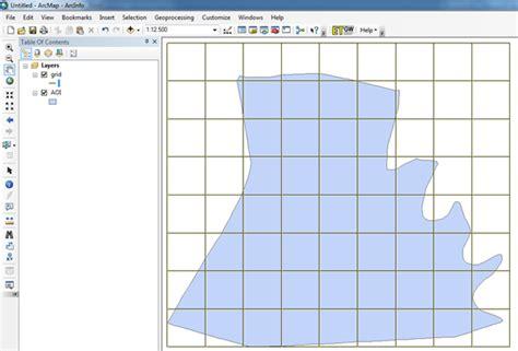 tutorial belajar arcgis 10 tutorial artikel tik 187 membuat vektor grid di arcgis 10