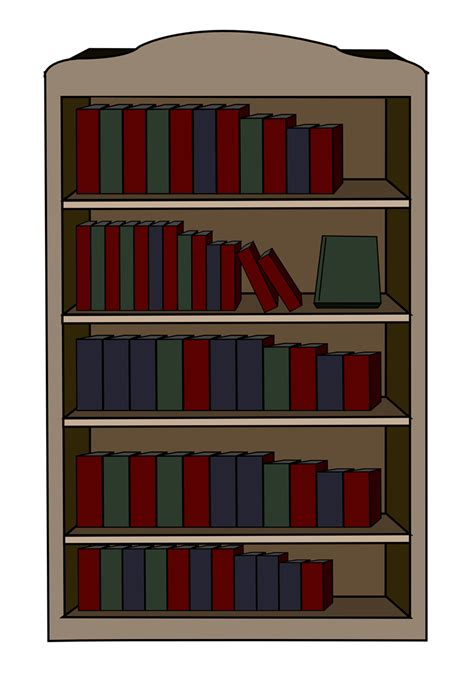 free to use domain bookcase clip