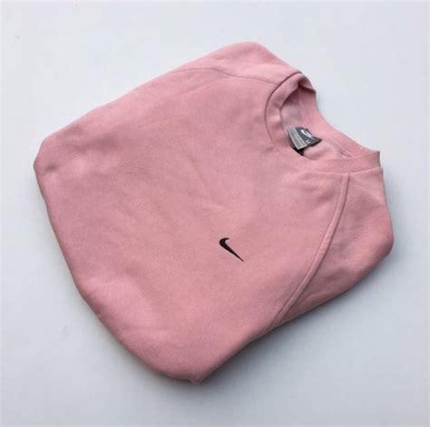 Sweater Dusty Pink Jacket Sweater Pink Nike Vintage Crewneck Jumper