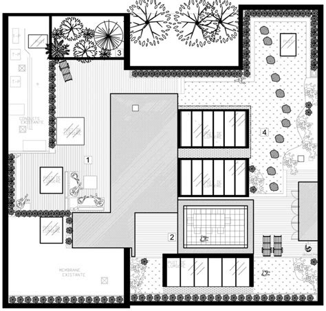 floor plan with roof plan white canvas on a green roof by martine brisson homedsgn