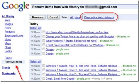 Clear Search How To Delete Clear History