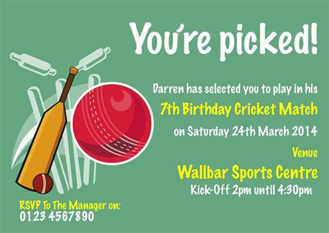 cricket birthday card template 73 best images about theme cricket on