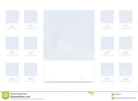 blank calendar template vector 2016 calendar template stock vector image of template