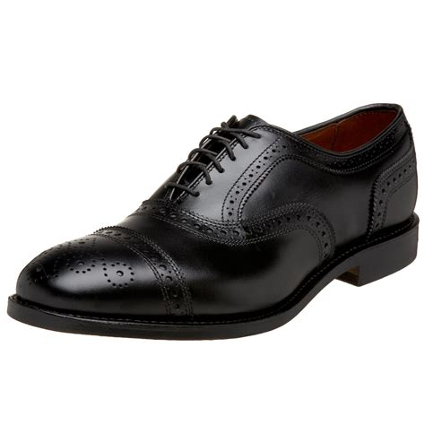oxfords mens shoes allen edmonds mens strand cap toe oxford in black for