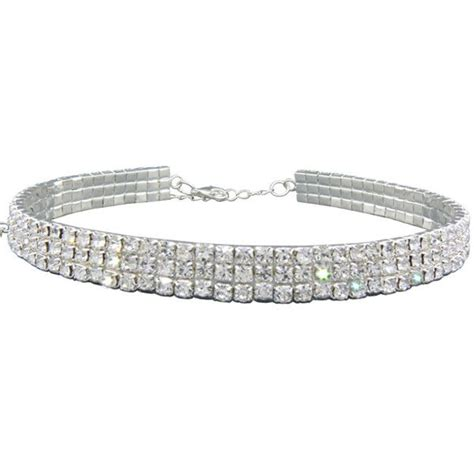 Rhinestoned Choker Silver 1000 ideas about rhinestone choker on
