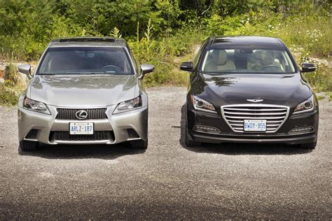 2015 hyundai genesis vs comparison test 2015 hyundai genesis 3 8 vs 2015 lexus gs