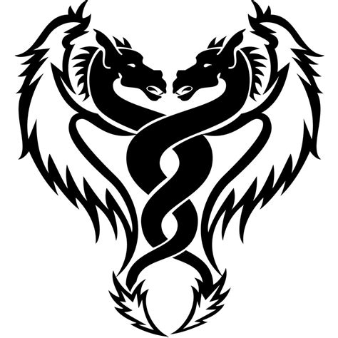 black and white dragon tattoo designs dragon and snake