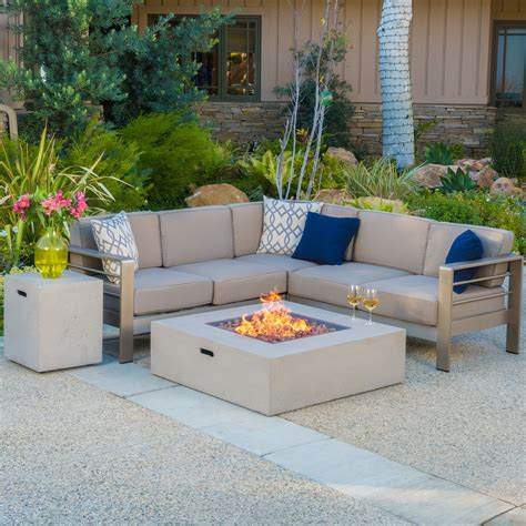 cape coral outdoor  piece  shaped sofa set  fire