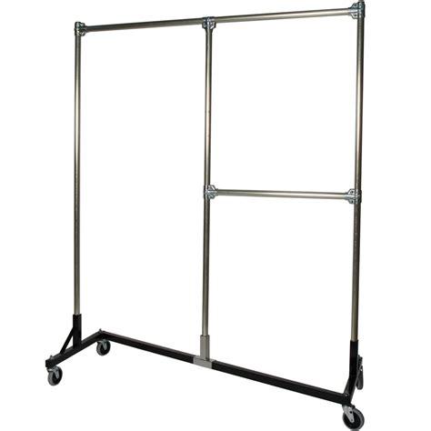 heavy duty garment rack split rail in clothing racks and