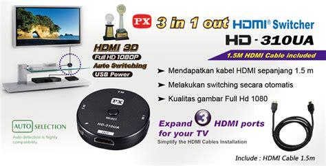 Px Audiovideo Selector 3 In 1 Av 31 Hijau illustration