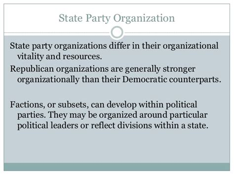 party organization chapter 5 section 5 ch 5 state and local government