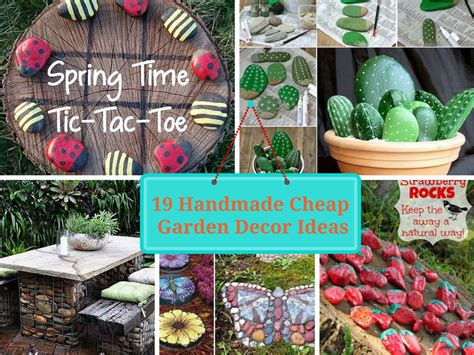 garden decoration ideas homemade stylish affordable garden decor cheap decorative stones