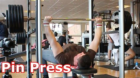bench press safety pins candito bench 2 pin press youtube