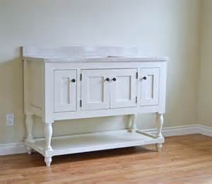 Vanity Furniture Plans White 48 Quot Turned Leg Vanity Diy Projects
