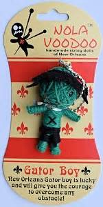Nola Voodoo Handmade String Dolls - gator boy nv dolls