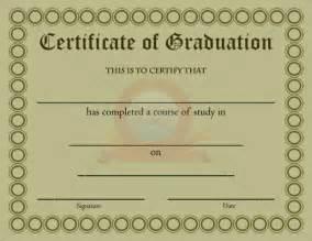 Certificate Graduation Template Graduation Certificates Templates Free Free Doc