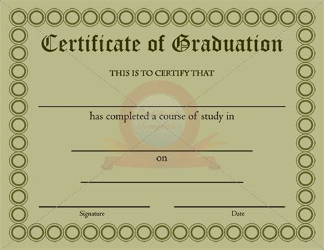 certificate of graduation template graduation certificates templates free free doc
