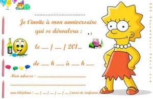Good Jeux D Animaux Pour Fille Gratuit #14: Invitation_anniversaire_lisa_simpson.jpg