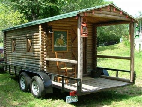 Log Cabin Rv Trailer by Log Cabin Rv 17 Now This Is A Cool Build And Set Up Would