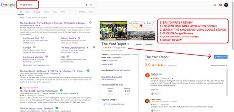 Add Review by Add Reviews The Yard Depot In Cypress Wholesale