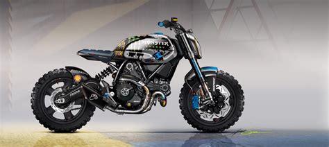 Monster Energy Motorrad by Racing Caf 232 Caf 232 Racer Concepts Ducati Scrambler