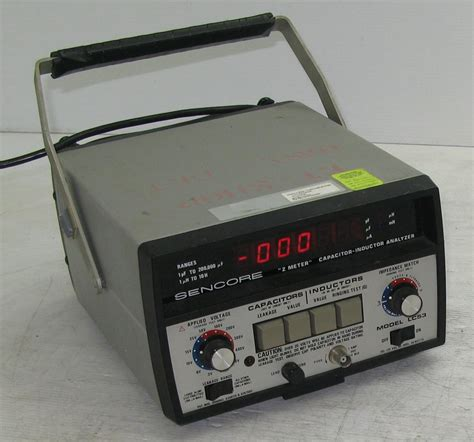 capacitor inductor analyzer sencore lc53 z meter capacitor inductor analyzer ebay