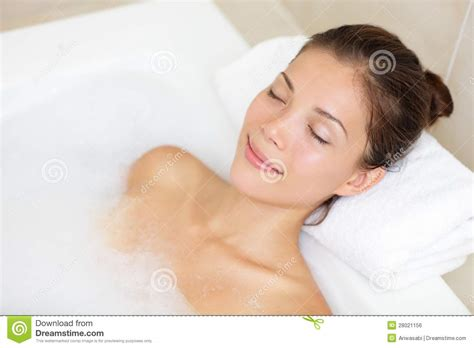 bathing in bathtub bathing woman relaxing in bath stock photo image 28021156