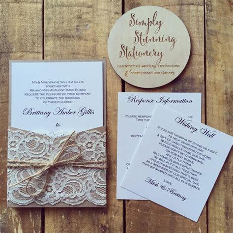 lace wedding invitations with pockets wedding invitation rustic kraft pocket wedding invitations