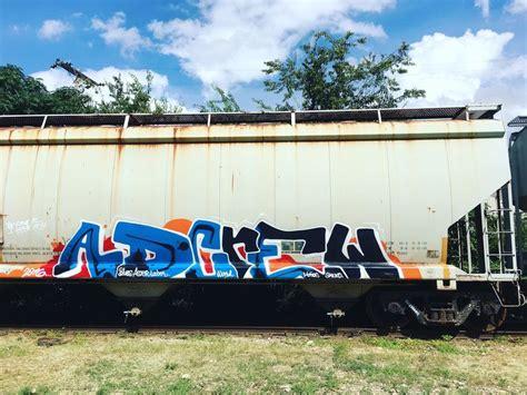 blues ad crew freight train graffiti train graffiti