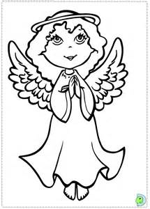 angel coloring christmas angel colouring dinokids org