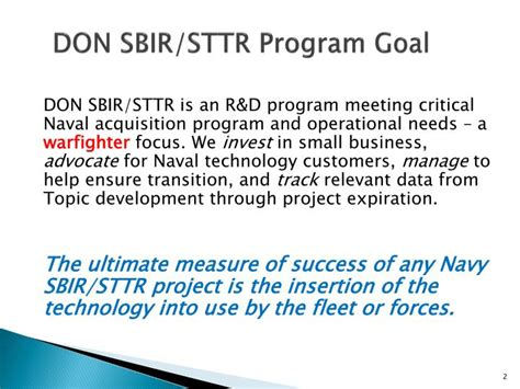small business technology transfer program phase i sttr ppt department of the navy commercialization readiness