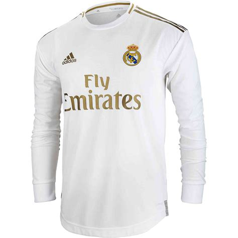 adidas real madrid home ls authentic jersey