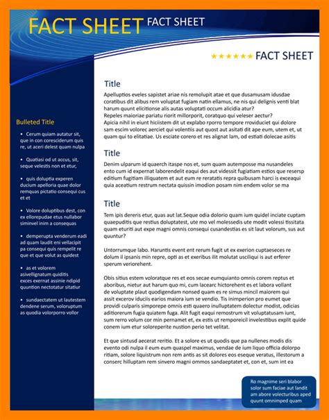 template fact sheet 9 fact sheet template word janitor resume