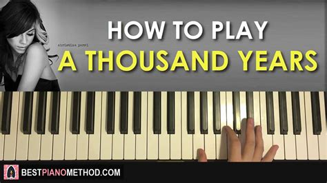 tutorial keyboard a thousand years how to play christina perri a thousand years piano