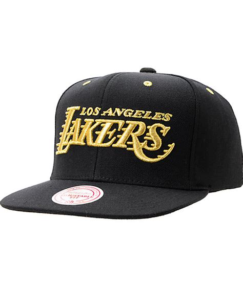 Exclusive Snapback Stussy Gold Font nba mitchell and ness la lakers black gold snapback hat