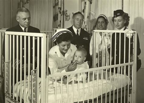 Background Check San Diego Navy Checks Baby At Naval Hospital San Diego Of World War Ii