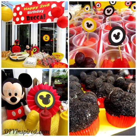 mickey mouse theme decorations hat buffet table mickey mouse