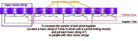 wiring led diodes in series quickar electronics how to hook up leds choosing the correct wiring scheme the proper current