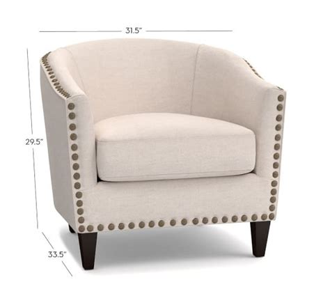 Upholster Armchair by Harlow Upholstered Armchair Pottery Barn