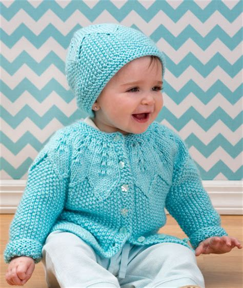 red heart knitting patterns sweaters for boy star bright baby cardigan and hat red heart