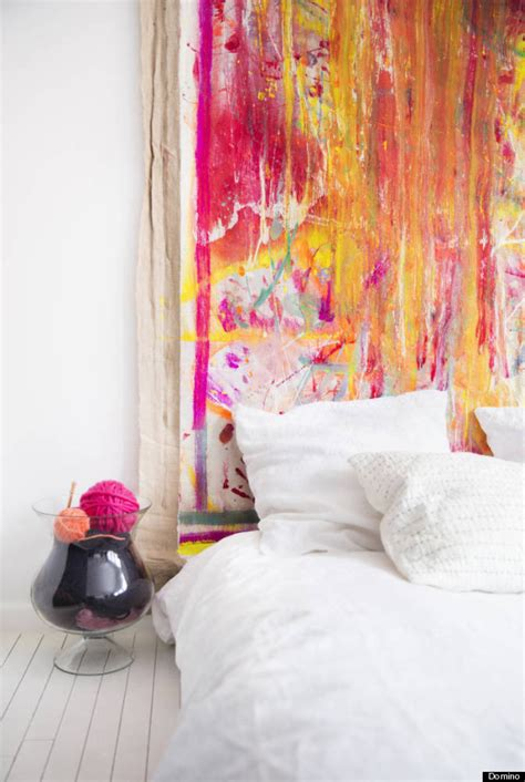art headboard 6 new ways to use art without hanging it on a wall
