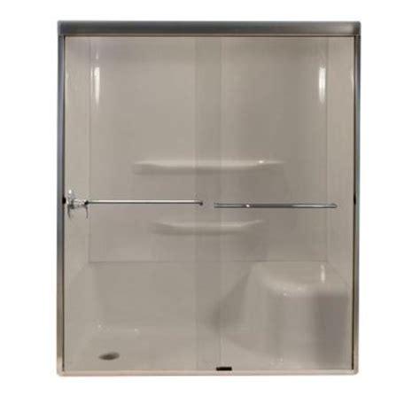 Lyons Industries 59 In X 72 In Semi Framed Sliding Lyons Shower Doors