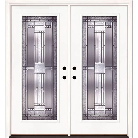 Feather River Exterior Doors Feather River Doors 74 In X 81 625 In Patina Lite Unfinished Smooth Left