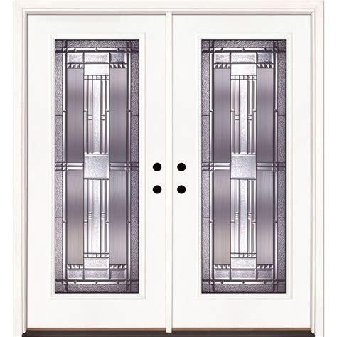 Home Depot Exterior Doors Fiberglass Feather River Doors 74 In X 81 625 In Patina Lite Unfinished Smooth Left