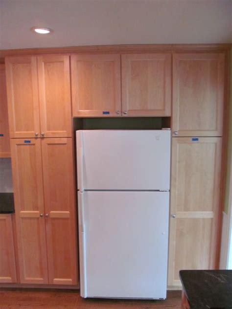 Cabinets Surrounding Refrigerator by Cabinets Built Around Fridge House Reno