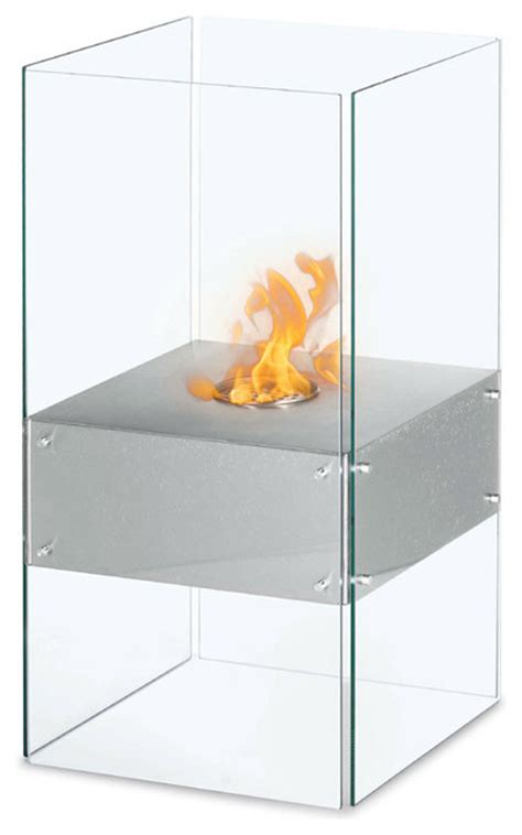 cella free standing floor indoor outdoor ethanol fireplace