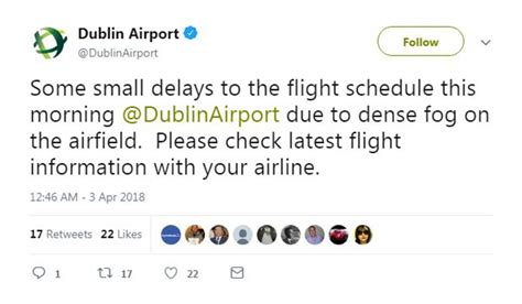 flight delays and cancellations at dublin airport due to
